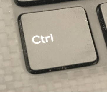 Control key from a computer keyboard